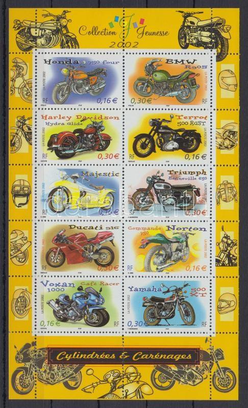 Motorcycles minisheet, Motorbiciklik kisív