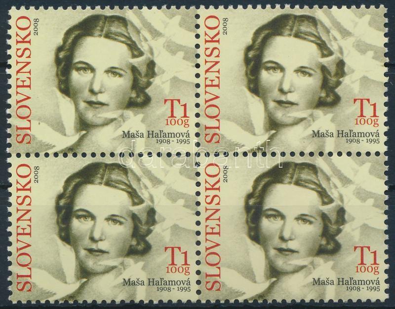 Masa Hal'amová's birth centenary block of 4, Masa Hal'amová 100. születésnapja 4-es tömb