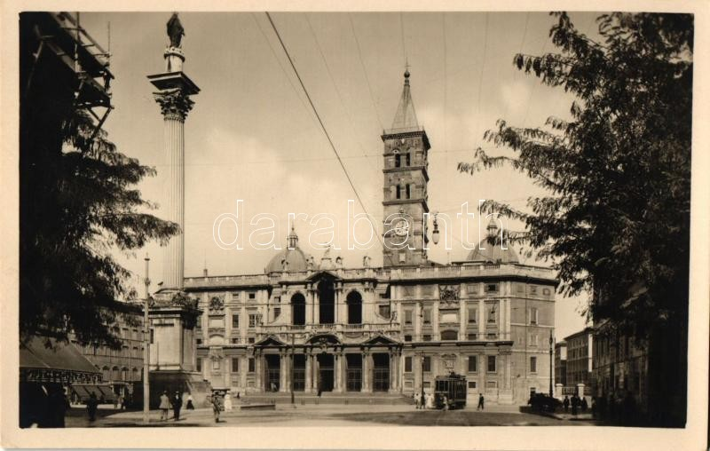 Rome, Roma; Basilica di S. Maria Maggiore / Cathedral, tram