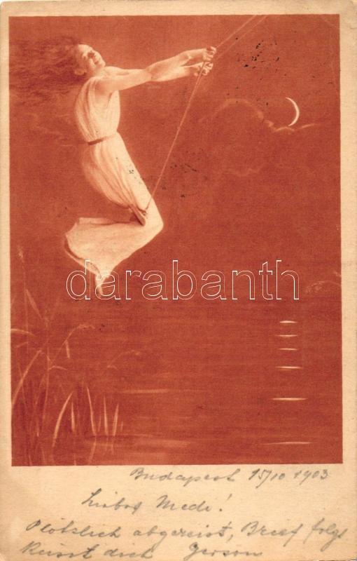 Lady on swing, Hintázó nő