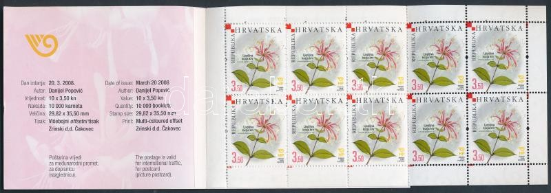 Indigenous plants stamp booklet, Őshonos növények bélyegfüzet