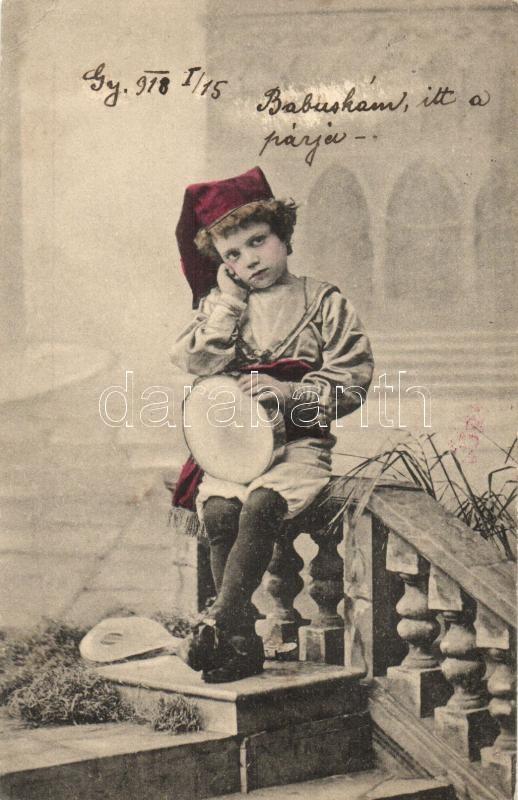 Child with tambourine, Gyermek tamburinnal