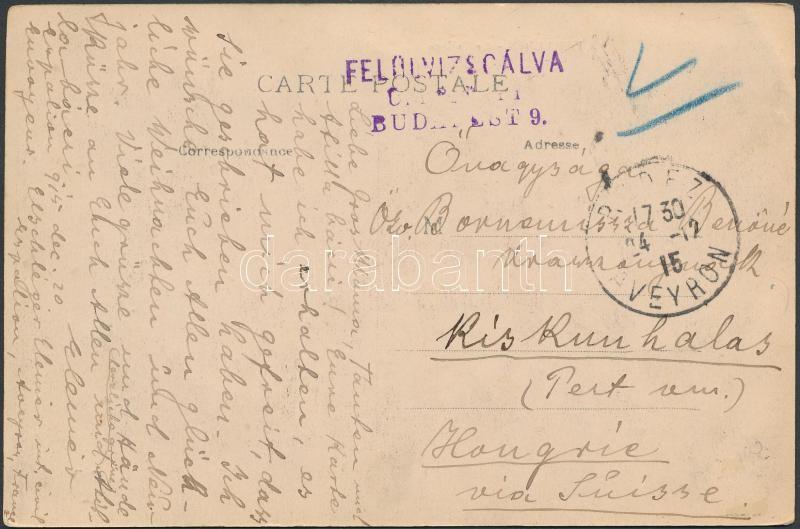 Postcard from France, Képeslap Franciaországból magyar polgári internálttól Kiskunhalasra
