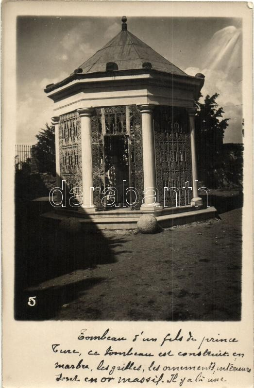 Constantinople, Istanbul; Tomb of a Turkish prince son, photo