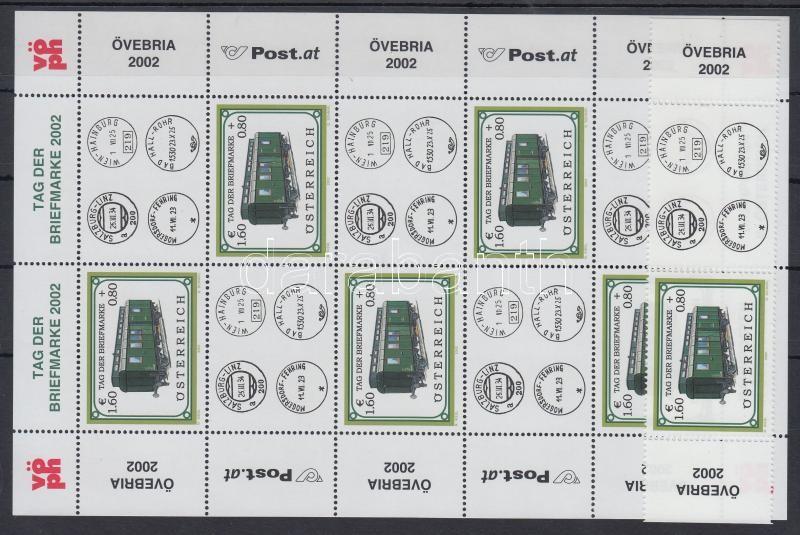 Stamp Day; Locomotive margin stamp with coupon + mini sheet, Bélyegnap; Mozdony ívszéli szelvényes bélyeg + kisív