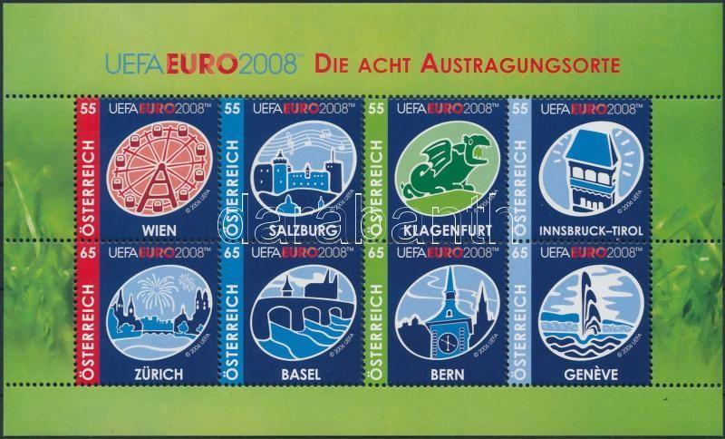 European Football Championship, Austria and Switzerland mini sheet, Labdarúgó Európa-bajnokság, Ausztria és Svájc kisív