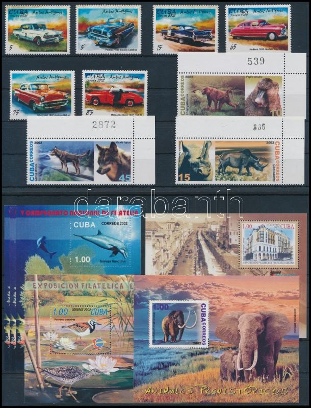9 stamps and 6 blocks, 9 db bélyeg és 6 db blokk 2 stecklapon