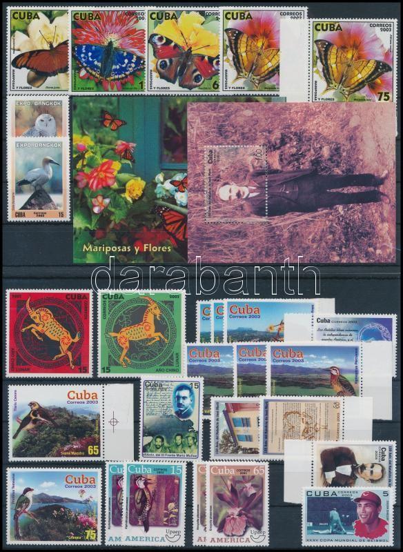 27 stamps and 2 blocks + FDC, 27 db bélyeg és 2 blokk  2 stecklapon + FDC