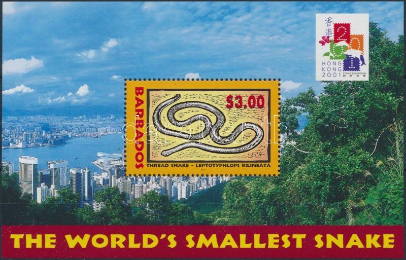 International Stamp Exhibition Hongkong 2001: Chinese New Year - Year of Snake block, Nemzetközi Bélyegkiállítás Hongkong 2001: kínai újév - Kígyó éve blokk