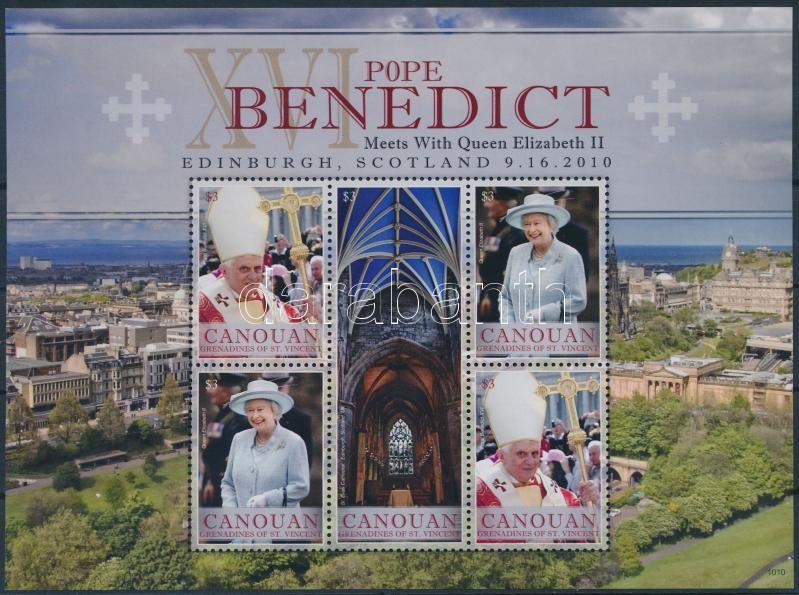 Papal Visit minisheet, Pápai látogatás kisív