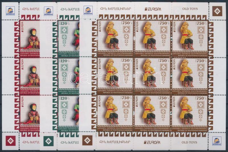 Europa CEPT, Historical games mini sheet set, Europa CEPT, Történelmi játékok kisív sor