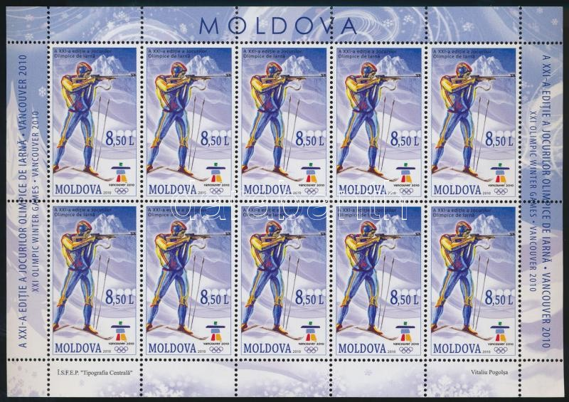 Téli Olimpia kisív zárérték, Winter Olympics minisheet closing stamps