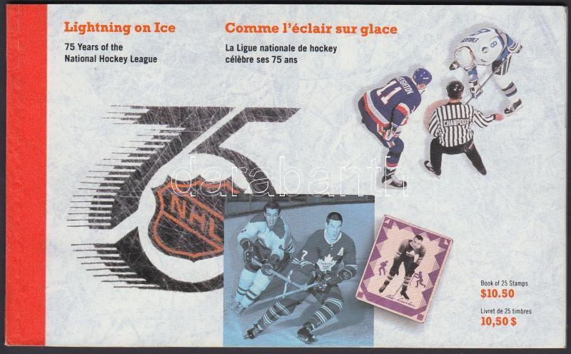 75th anniversary of National Hockey League stamp-booklet, 75 éves a Nemzeti Jégkorong Liga bélyegfüzet