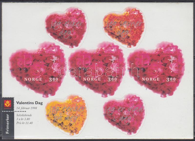 Valentine's Day self-adhesive foil sheet, Valentin nap öntapadós fóliaív