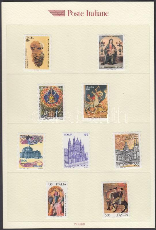 Italian Post : 4 individual values + 8 sets, Olasz Posta válogatása postai kiadványban: 4 klf önálló érték + 8 klf sor