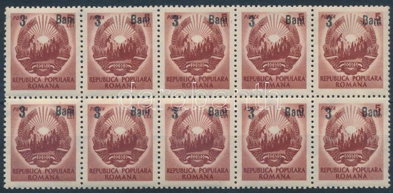 Mi 1321 block of 10, Mi 1321 tizestömb