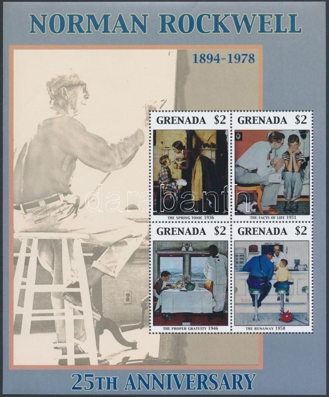Rockwell's death anniversary minisheet, Rockwell halálának évfordulója kisív