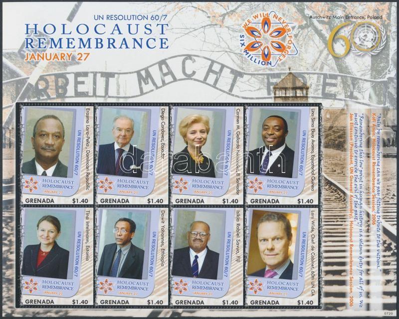 Holocaust minisheet, Holokauszt kisív