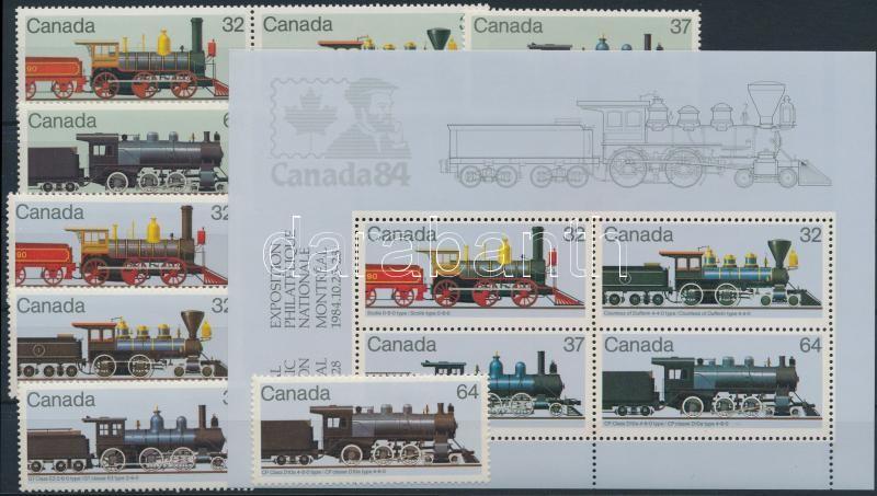 Stamp Exhibition set + block, Bélyegkiállítás sor + blokk