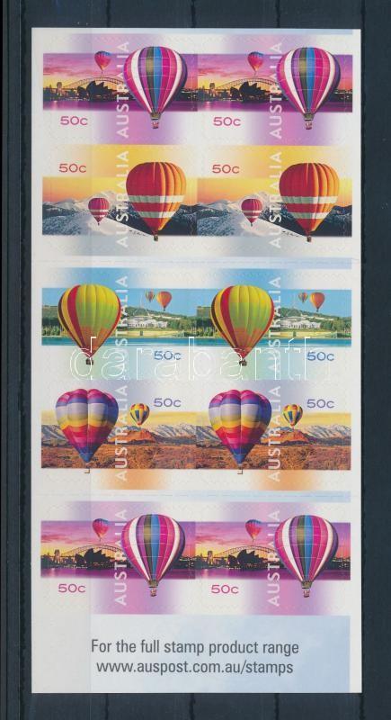 Hot Air Balloon self-adhesive stamp-booklet, Hőlégballon öntapadós bélyegfüzet