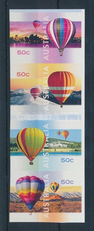 Hot Air Balloon self-adhesive stripe of 4, Hőlégballon öntapadós négyescsík