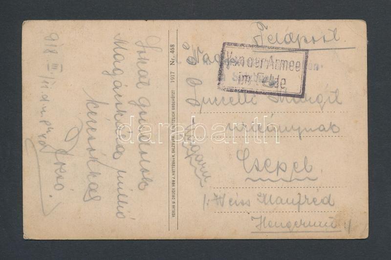 "Tábori posta képeslap ""Vonder Armee im Felde"", Austria-Hungary field postcard"