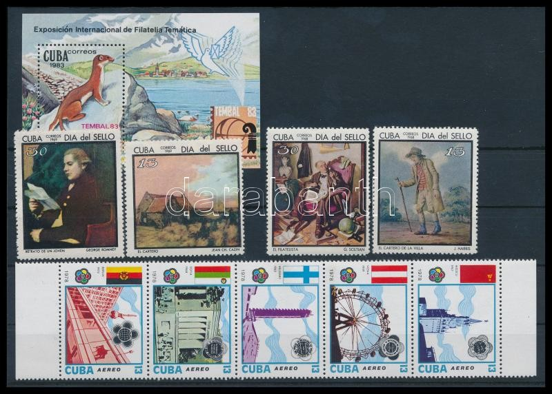 1969-1983 9 diff stamps with sets + block, 1969-1983 9 klf bélyeg közte sorok összefüggésekben + blokk