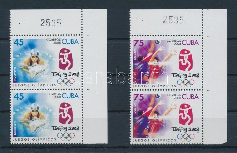 Summer Olympics, Beijing 2 values corner pairs, Nyári olimpia, Peking 2 érték ívsarki párokban