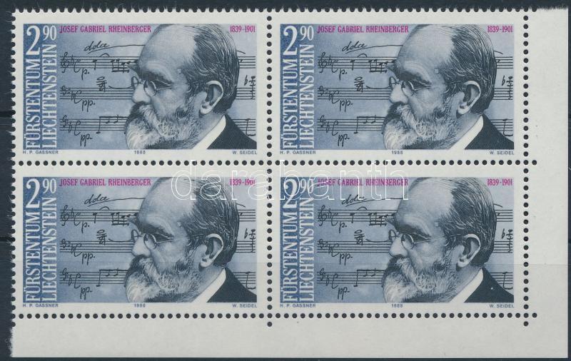 Josef Rheinberger block of 4, Josef Rheinberger születésének 150. évfordulója 4-es tömb