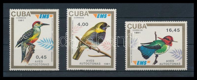 Birds 3 stamps, Madarak 3 érték