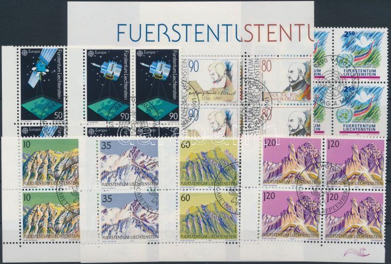 1990-1991 4 issues, 1990-1991 4 klf kiadás 4-es tömbökben, közte teljes sorok