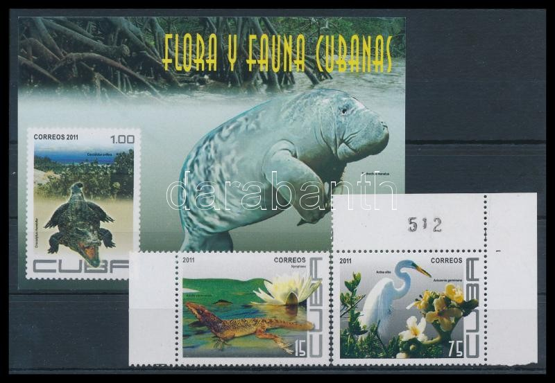 Fauna and Flora 2 corner values + block, Növény- és Állatvilág 2 ívsarki érték + blokk