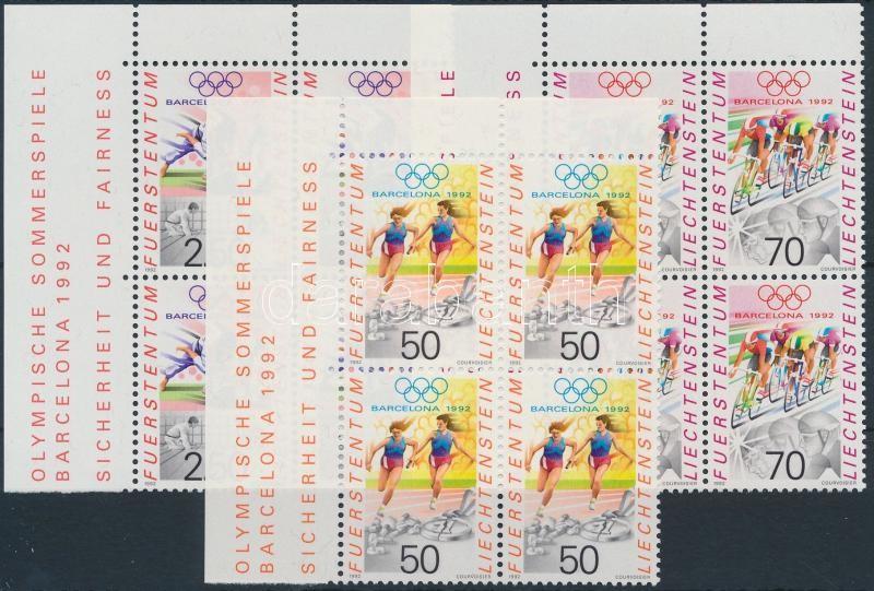 Summer Olympics, Barcelona set corner blocks of 4, Nyári Olimpia, Barcelona sor ívsarki 4-es tömbökben
