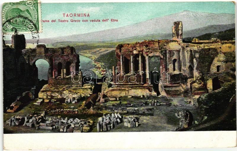 Taormina, Teatro Greco, Etna / Greek theatre, TCV card
