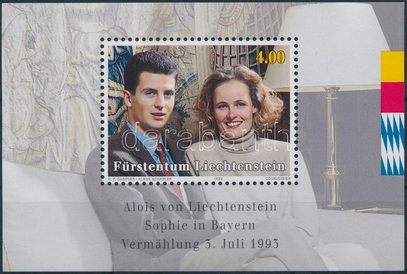 Prince Alois and Princess Sophie's wedding block, Alois herceg és Sophie hercegnő esküvője blokk