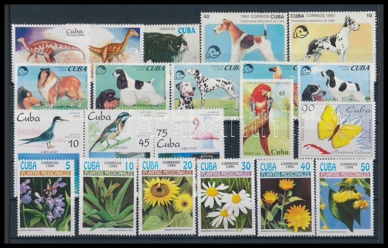1992-1999 Animals and plants 21 stamps, 1992-1999 Állatok és növények motívum 21 klf bélyeg