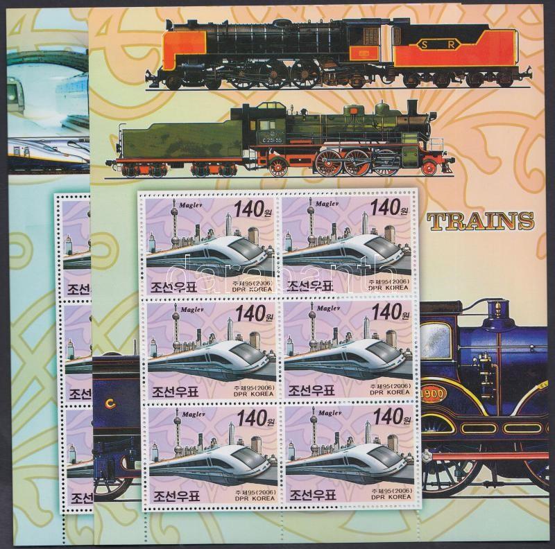 Stamp Exhibition; railway stamps + minisheets, Bélyegkiállítás; Vasút bélyeg + kétféle kisív