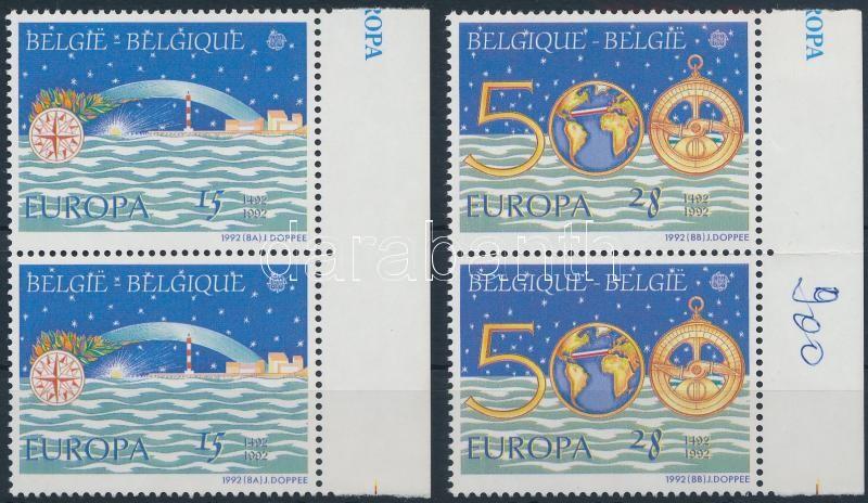 Europa CEPT, America set margin pairs, Europa CEPT, Amerika felfedezésének 500. évfordulója sor ívszéli párokban