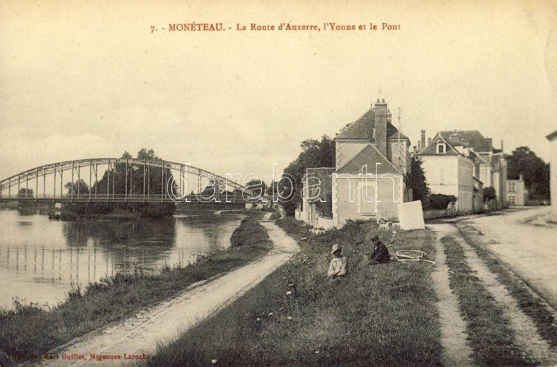 Monéteau, Route d'Auxerre, Yonne, Pont / road, river, bridge
