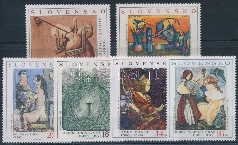 2001-2005 Paintings 6 diff stamps, 2001-2005 6 klf Festmény bélyeg