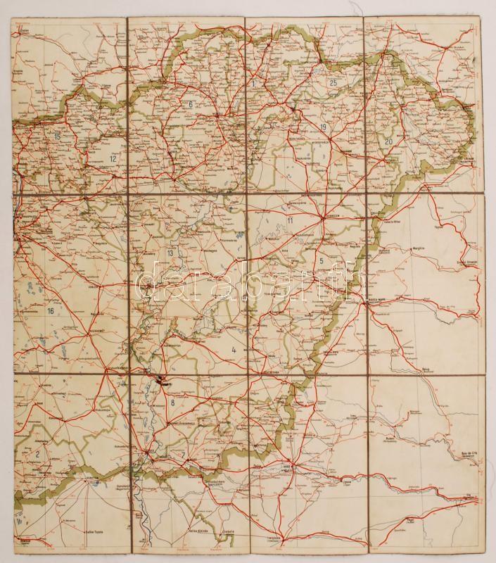 kelet magyarország térkép cca 1940 Kelet Magyarország vászonra kasírozott térkép 50x60 cm  kelet magyarország térkép