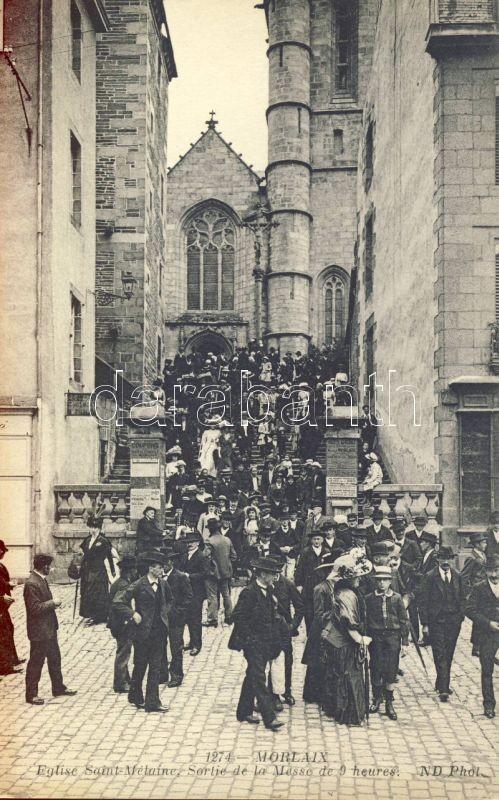 Morlaix, Eglise Saint-Mélaine / church, mass