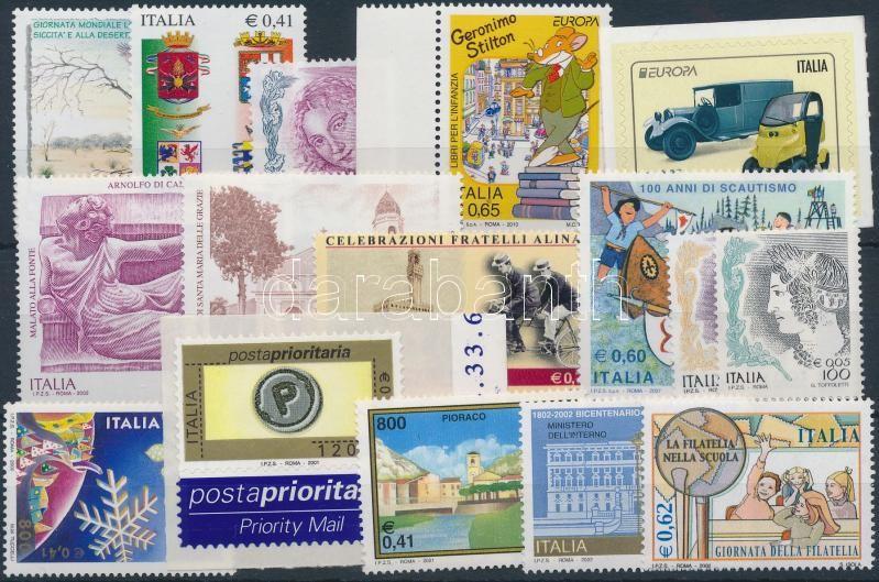 2000-2010 17 diff stamps, 2000-2010 17 db klf bélyeg, közte ívszéli és öntapadós érték