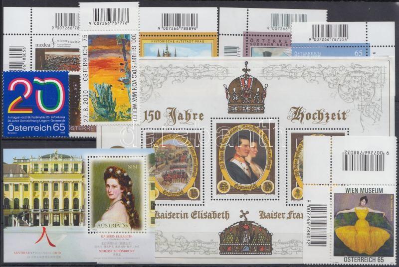 2004-2010 8 stamps + 2 blocks, 2004-2010 8 klf bélyeg + 2 db blokk