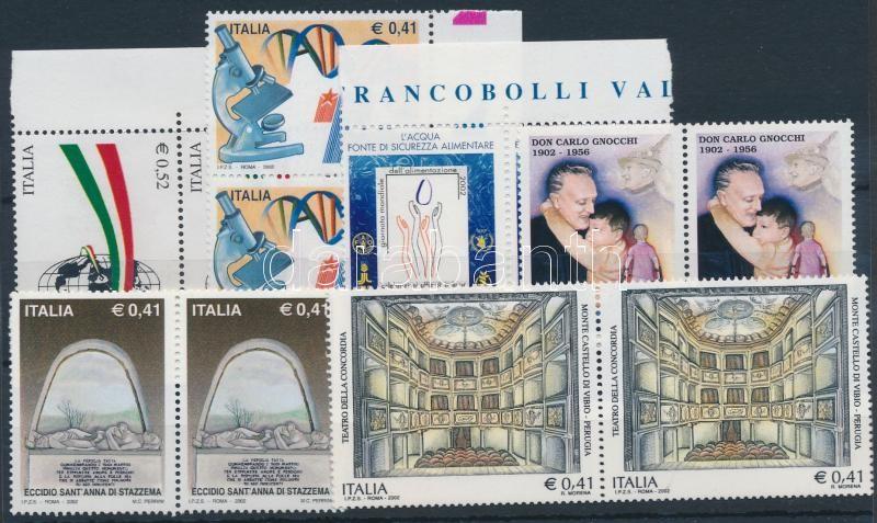 6 diff stamps in pairs, 6 klf érték párokban