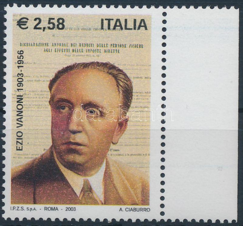 Ezio Vanoni margin stamps, Ezio Vanoni ívszéli bélyeg