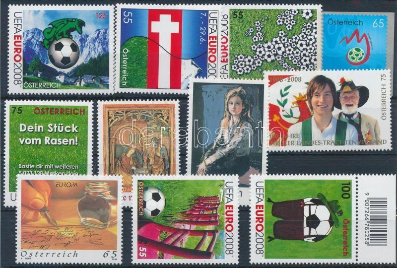 2007-2008 11 stamps, 2007-2008 11 klf bélyeg