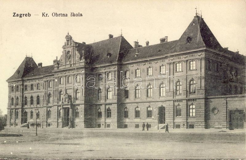 Zagreb, Kr. Obrtna skola / craft school