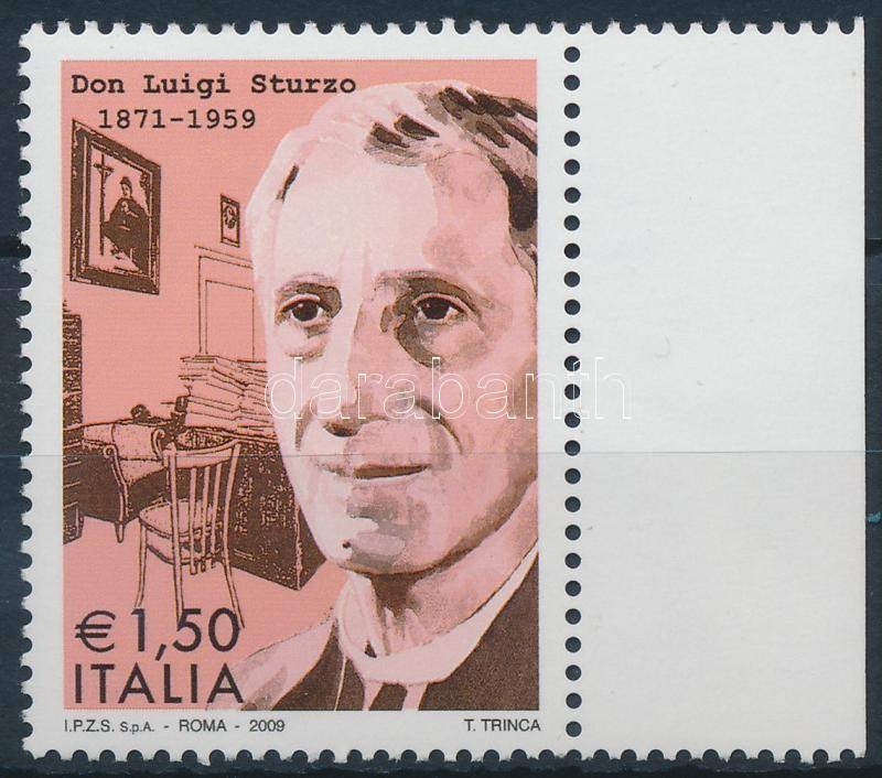 Luigi Sturzo margin stamp, Luigi Sturzo ívszéli bélyeg