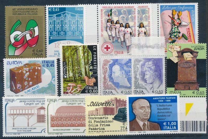 2004-2011 13 diff stamps, 2004-2011 13 db klf bélyeg
